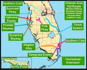 florida toll map florida toll roads map