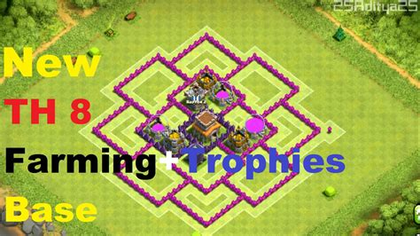 coc full upgrade 7 town hall images hd clash of clans quot new quot town hall 8 th8 farming trophies base