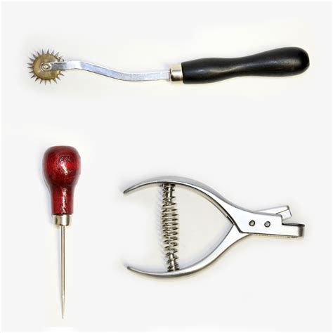 clothes pattern making supplies designer tool pack awl notcher and 1 tracing wheel
