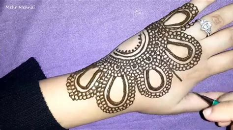 pretty arabic henna how to do simple mehendi design