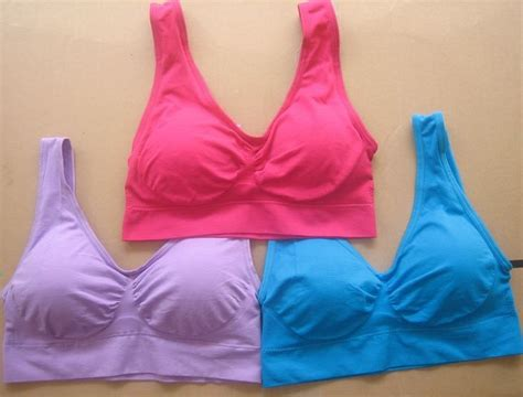 No Pads Genie Bra Yp 3 pcs set genie bra with removable pads size s m l xl xxxl free shipping
