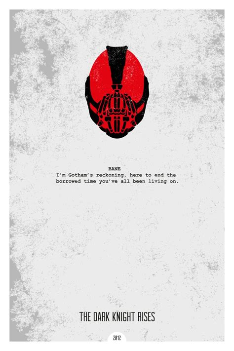 film quotes poster the dark knight rises 2012 minimal movie quote poster