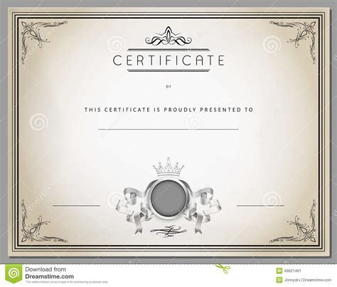 vintage certificate template vintage certificate template with detailed border in