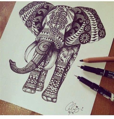 aztec elephant tattoo elephant wanting an aztec designed elephant