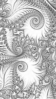 fractals colouring pages