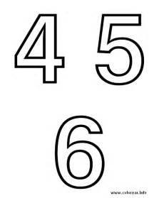 numero 4 5 6 alphabet printable coloring pages kids