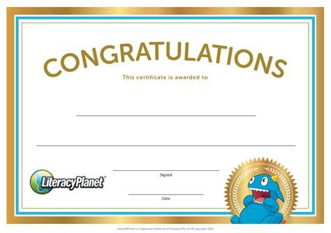 printable blank literacyplanet leaderboard certificates