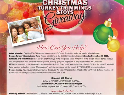 Turkey Giveaway 2017 Chicago - blog concordmbchurch org
