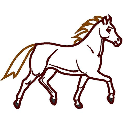 embroidery design horse running horse machine embroidery applique design by artapli