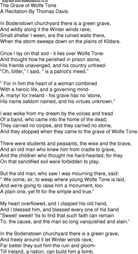 wolfe lyrics time song lyrics for 01 the grave of wolfe tone