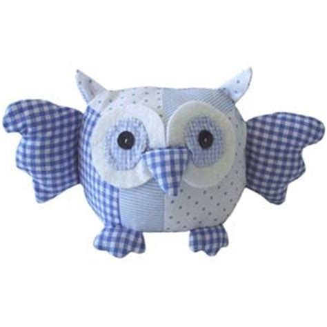 Handmade Soft Toys Uk - handmade 100 cotton patchwork owl soft by powell