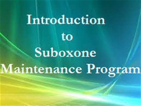 Outpatient Suboxone Detox by Suboxone Maintenance Not Detox Newday Counseling