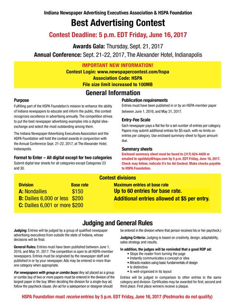 put experience to work for hspa hoosier state press association 2017 best advertising contest hoosier state press