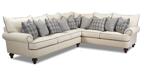 klaussner ashworth shabby chic sectional sofa olinde s furniture sectional sofas