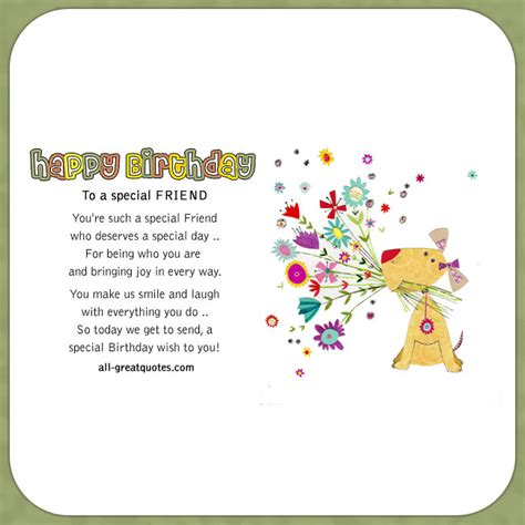 Happy Birthday To A Special Cousin by Happy Birthday To A Special Friend Friend Birthday Cards