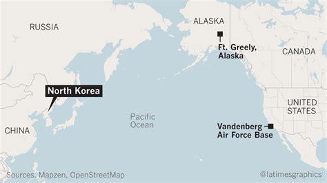 map usa korea can the u s defend against a korean missile strike