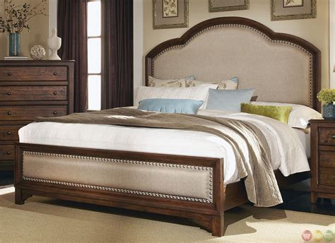 upholstered headboard bedroom set upholstered headboard laughton rustic bedroom set