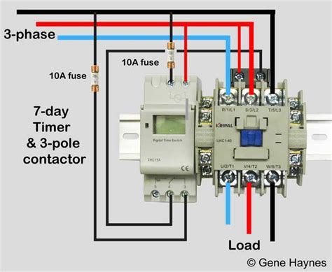 wiring diagram for time clock and contactor how to wire schneider lc1d contactor