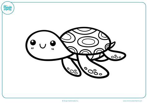 imagenes de tortugas faciles para dibujar dibujos de animales marinos para colorear mundo primaria