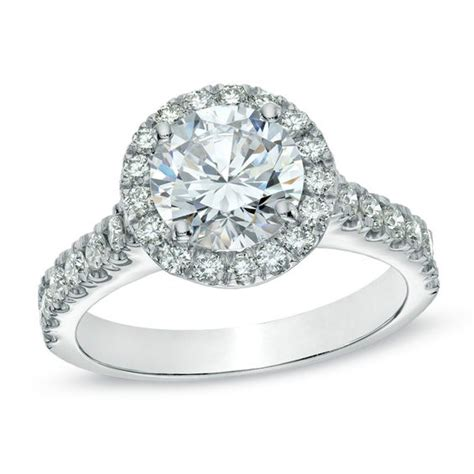 2 ct t w certified frame engagement ring in