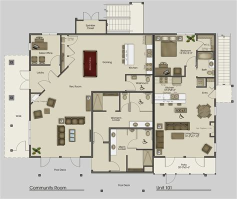 clubhouse floor plans clubhouse main floor plan