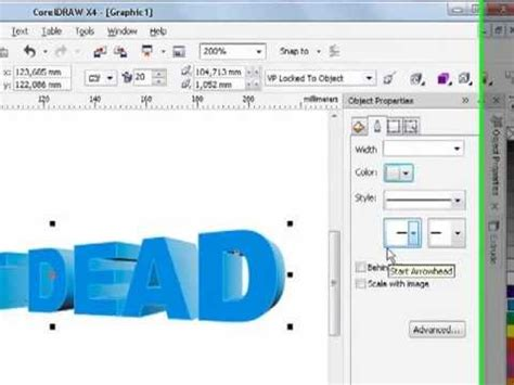 tutorial corel draw x4 tutorial corel draw x4 x5 3d text rulzzzz youtube