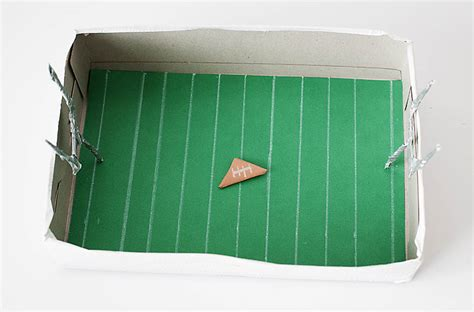How To Make A Football Field Out Of Paper - diy cereal box paper football arena 183 kix cereal