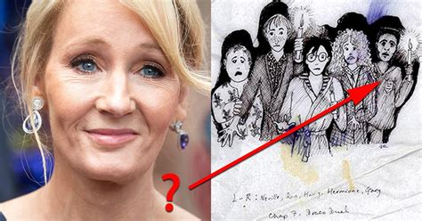 J K Rowling Sketches by J K Rowling Explains Mystery Of Early Harry Potter