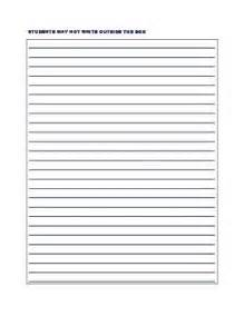 Staar Persuasive Essay Lined Paper by 1000 Images About Writing On