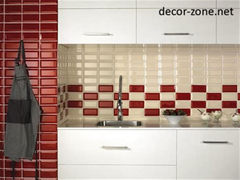 red and white kitchen backsplash quotes 20 kitchen backsplash tile ideas in metro style