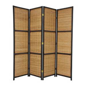 Retractable Room Divider Shop Furniture Room Dividers 4 Panel Black Folding Indoor Privacy Screen At Lowes
