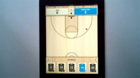 basketball shot chart  ipad iphone   stats  paper  pencil youtube