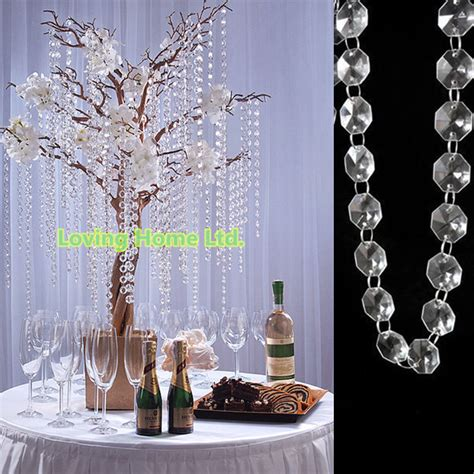 diy branch and crystal centerpieces 33 ft diy octagonal