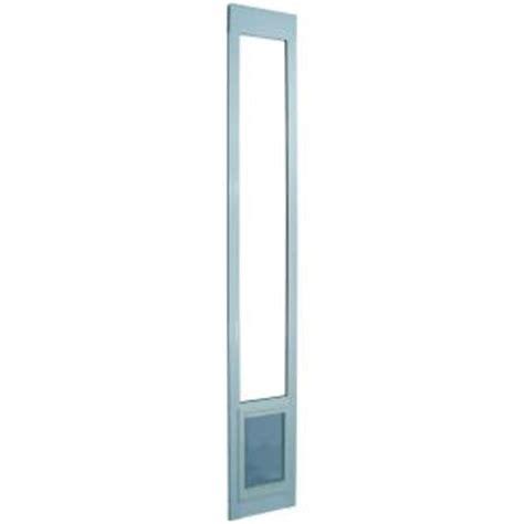 Ideal Pet 7 In X 11 25 In Medium White Aluminum Pet Sliding Glass Cat Door Insert