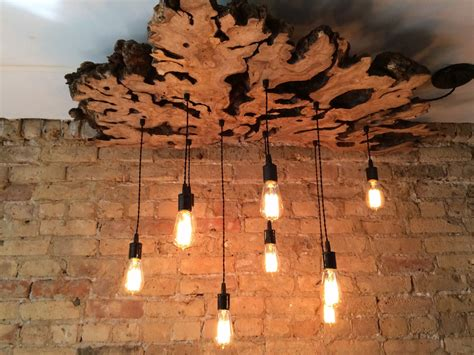 Handcrafted Light Fixtures - buy a crafted xl live edge olive wood chandelier