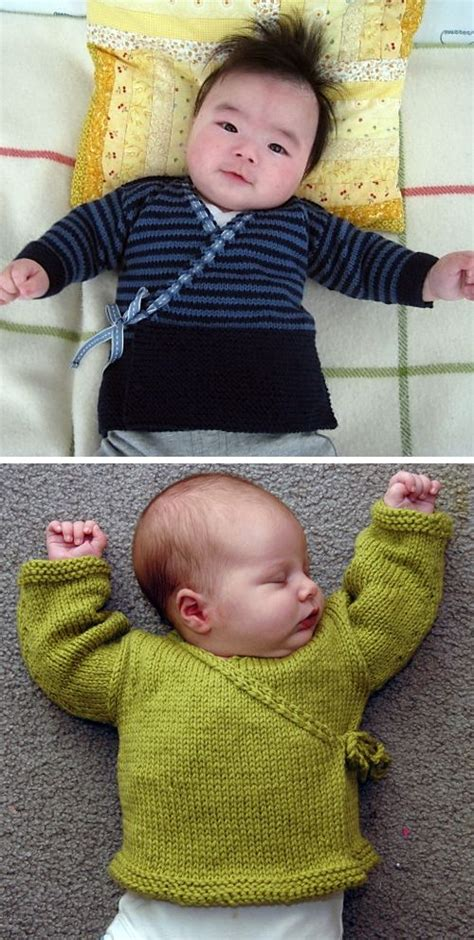 knitting pattern  baby sachiko kimono sweater
