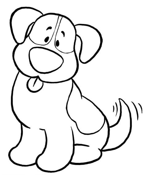 Free Printable Easy Coloring Pages Simple Dog Coloring Pages Ekids Pages Free Printable by Free Printable Easy Coloring Pages