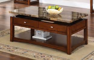 Tables jas espresso coffee table with faux marble lift top af 80018 5