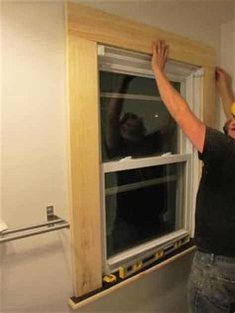 Install Window Stool by Pallet Door Trim Project Pallet Door Door