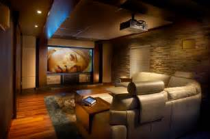 Comfy home theatre and family room modern home cinema montreal