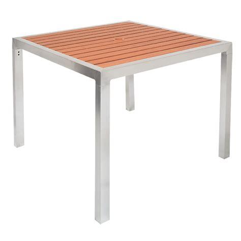 36 x 36 aluminum patio table with umbrella