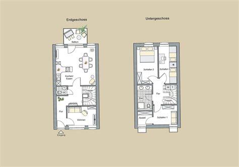 Doppelhaushälfte Unterschiedliche Höhe by Zimmer Mit Steinwand Grau
