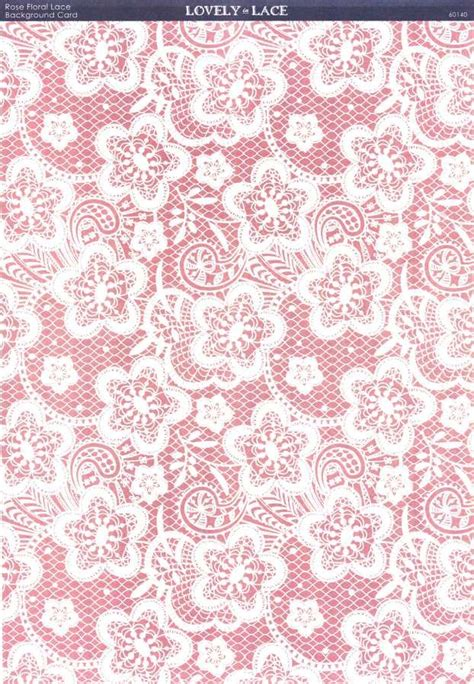 Lace Craft Paper - kanban crafts lovely in lace printed background card