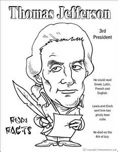 thomas jefferson coloring page first grade social