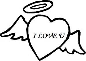 love angel heart coloring pages free coloring pages