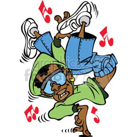 royalty free cartoon hip hop dancer character 387813