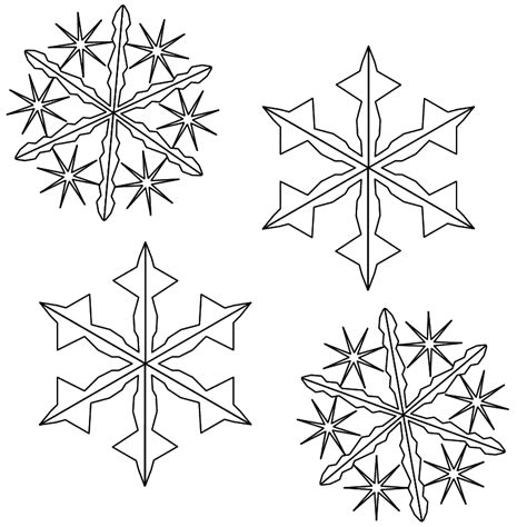 Snowflakes Coloring Page Coloring Home Snowflakes Printable Coloring Pages