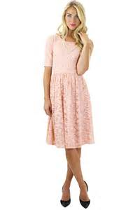 modest dresses lace dress in pink