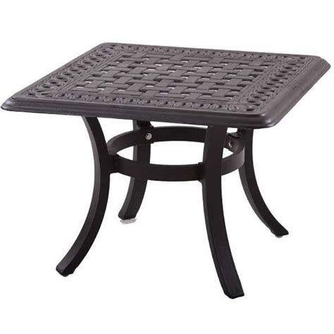 patio end tables darlee series 88 cast aluminum patio end table ultimate
