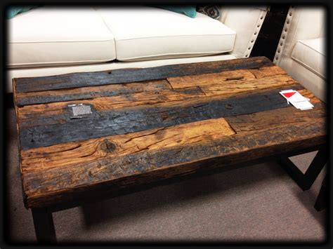 railroad tie console table railroad ties coffee table with metal wheels tie console